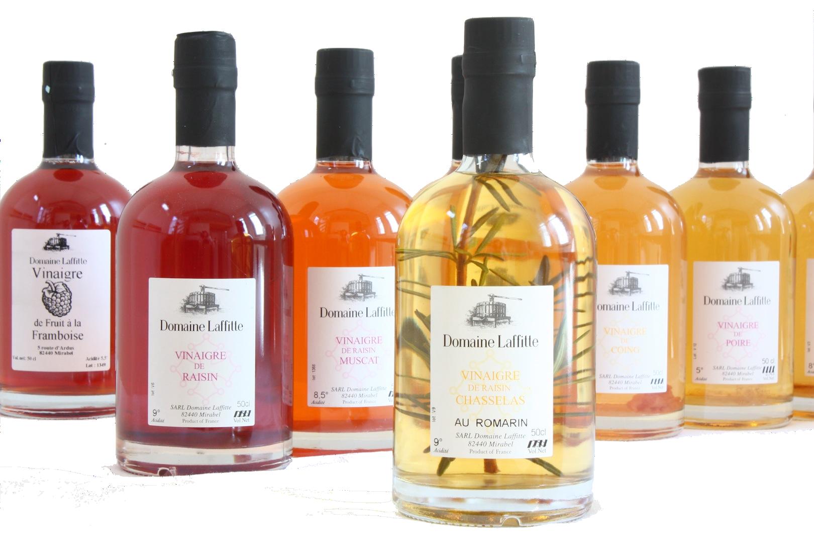 Vinaigres de fruits artisanal haut de gamme 100% naturelDomaine Laffitte