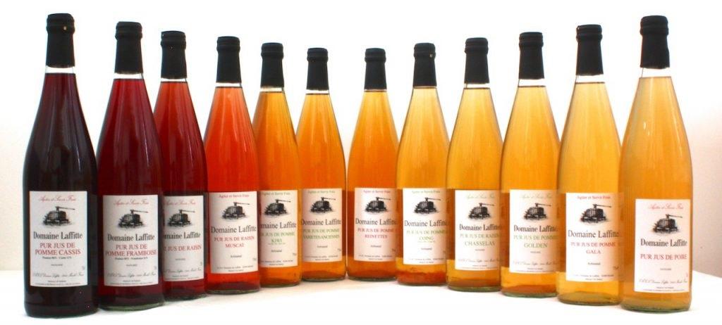 gamme jus de fruits 75 cl Domaine Laffitte